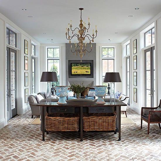 15 ideen f r rustikalen ziegel und holzboden freshouse - Fensterdeko wohnzimmer ...