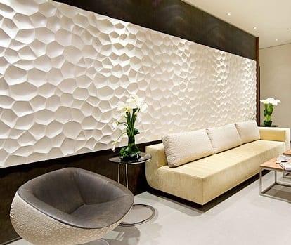 Wohneinrichtung mit Wanddekoration