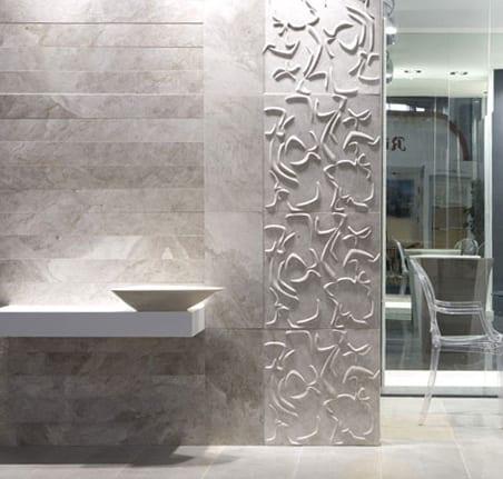 3D Wandverkleidungsidee fürs Badezimmer