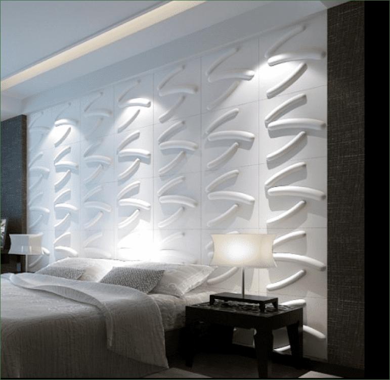 3D Wandtextur in im Schlafzimmer
