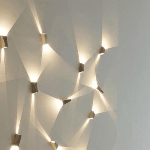 atraktive Wandbeleuchtungsidee