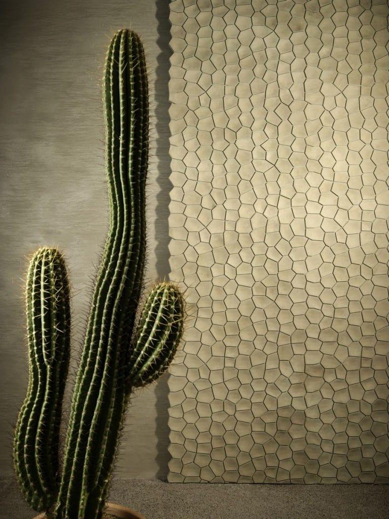 3D-Wandgestaltung in Naturfarben