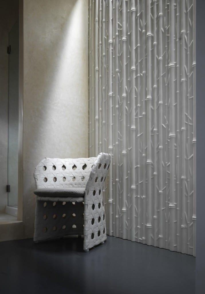 weiße 3D Wandverkleidung