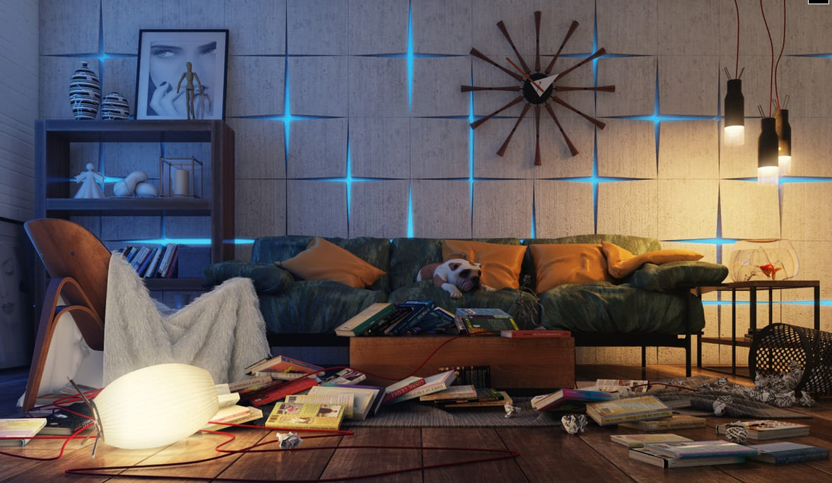20 kreative lichtgestaltungsideen mit wandleuchten - freshouse, Wohnzimmer dekoo