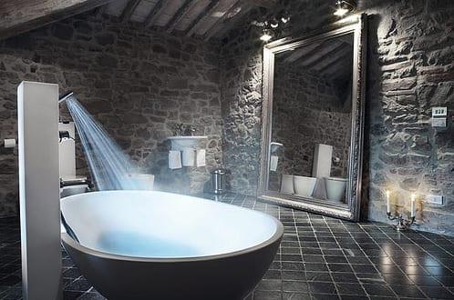 badezimmer mit natursteinwand 2 - Natursteinwand Badezimmer