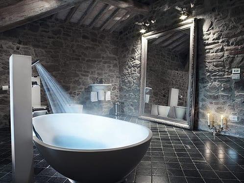 freistehende Badewanne mit freistehneder dusche