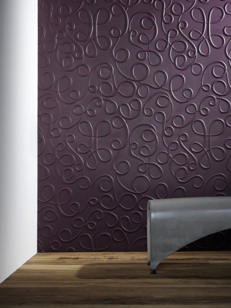 elegante dunkel lila Wandpaneele mit Textur