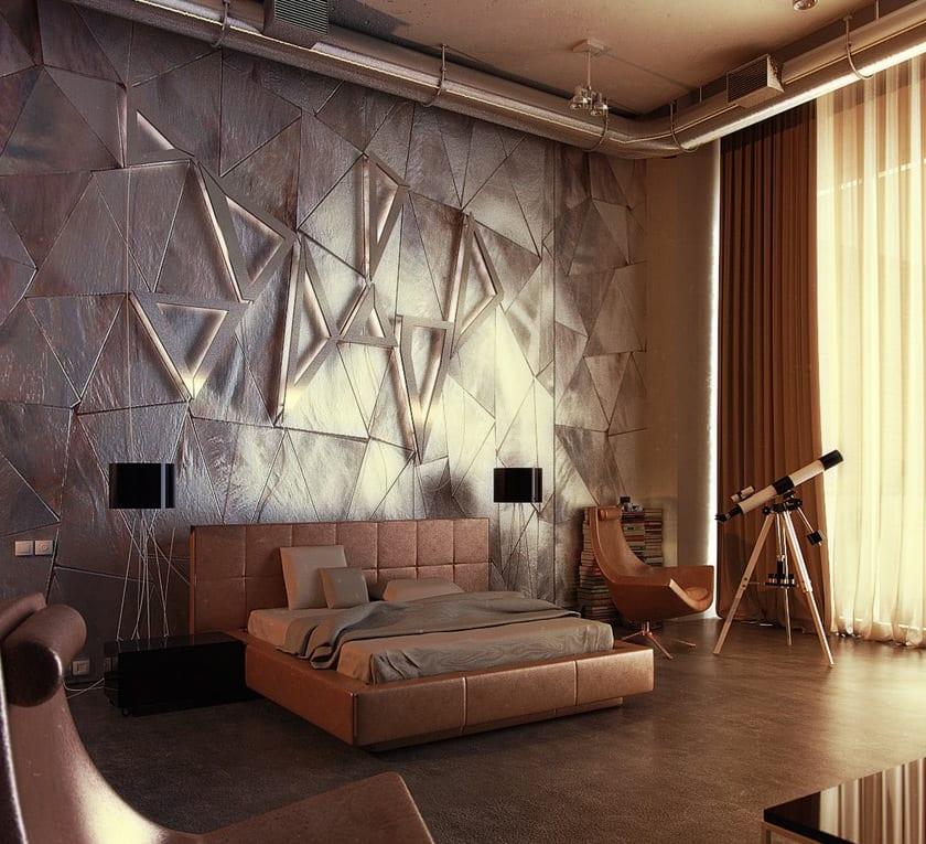 Wand Lichtgestaltung mit Dreieckleuchten