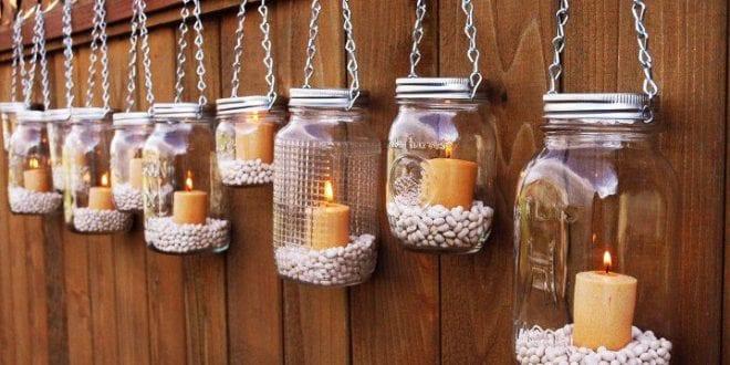 kreative dekorationsideen mit kerzen - Schlafzimmer Kerzen