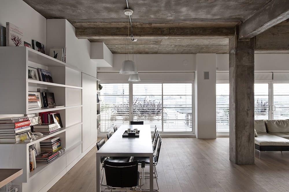 Loft Wohnung mit Dach aus Beton