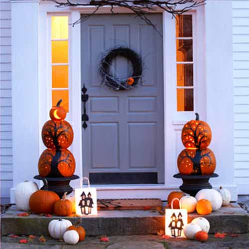 Halloween Aussendekoration für den Eingang