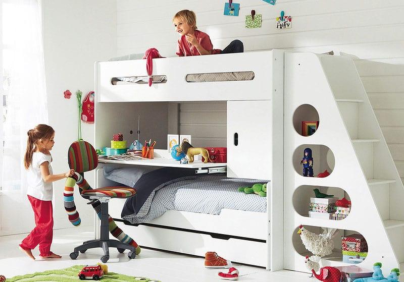 minimalistisches Kinderetagenbett