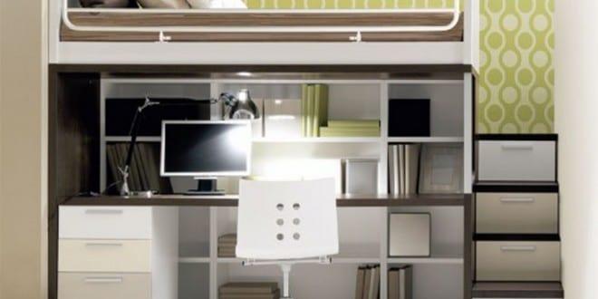 Kinderzimmer Einrichtung mit Hochbett und Schreibtisch - fresHouse