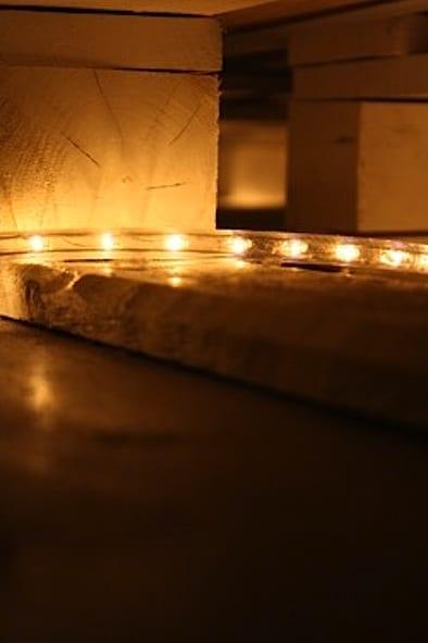 Palettenbett mit LED Beleuchtung 1 - fresHouse