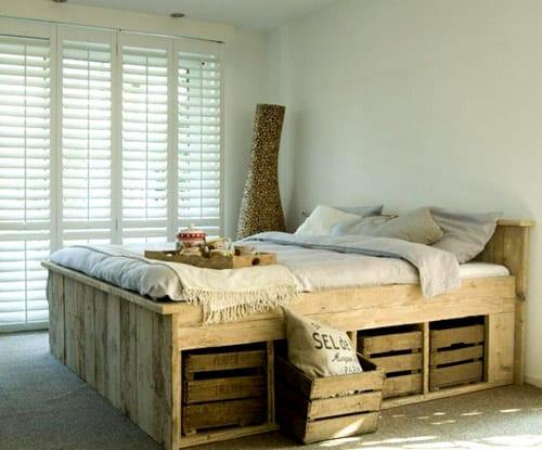 Palettenbett  21 Ideen für Palettenbett im Schlafzimmer - fresHouse