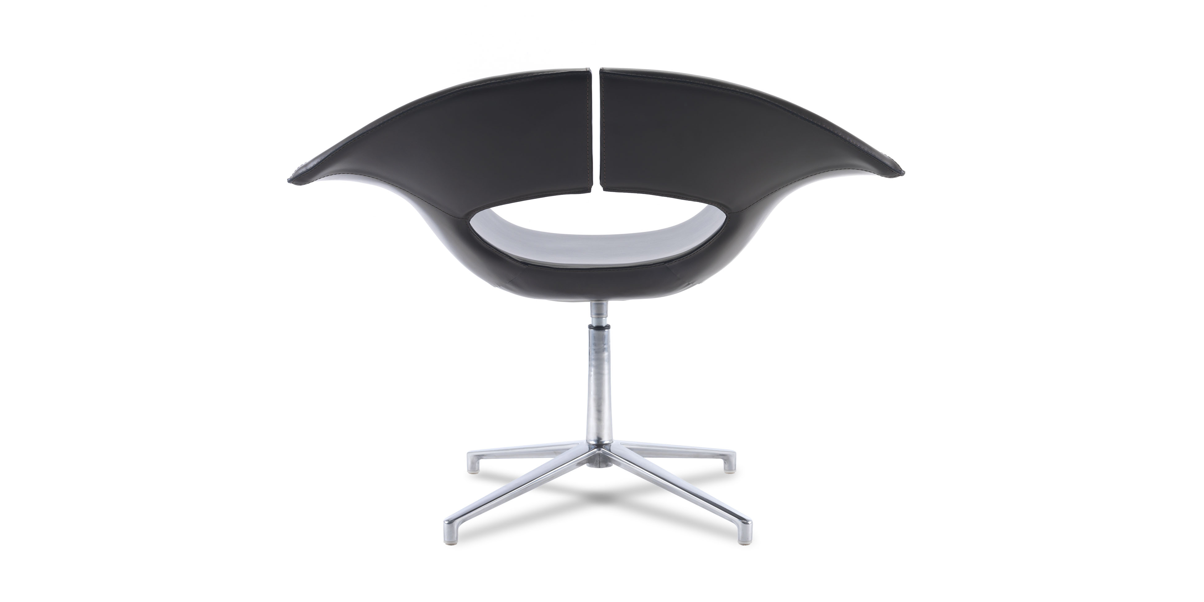 Designerstuhl in schwarz