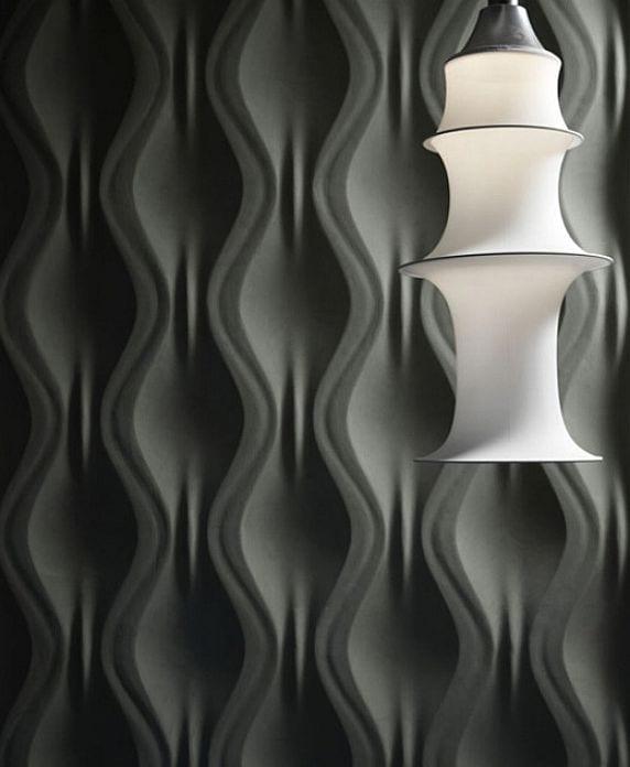 3D Wandpaneel und weiße design-Lampe