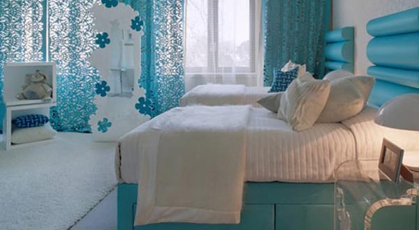 turquoise bedroom decorating ideas 7 freshouse. Black Bedroom Furniture Sets. Home Design Ideas