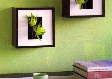 wand blumentopf in bildrahmen freshouse. Black Bedroom Furniture Sets. Home Design Ideas