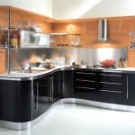 Zeitnah Schwarz Kleine Küche einrichten