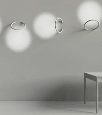 minimalistische Lichtgestaltund für Wand