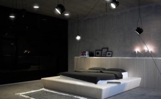 interessante und moderne lichtgestaltung im schlafzimmer freshouse. Black Bedroom Furniture Sets. Home Design Ideas