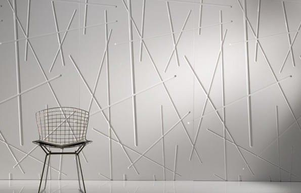 attraktive Wandgestaltung in weiß