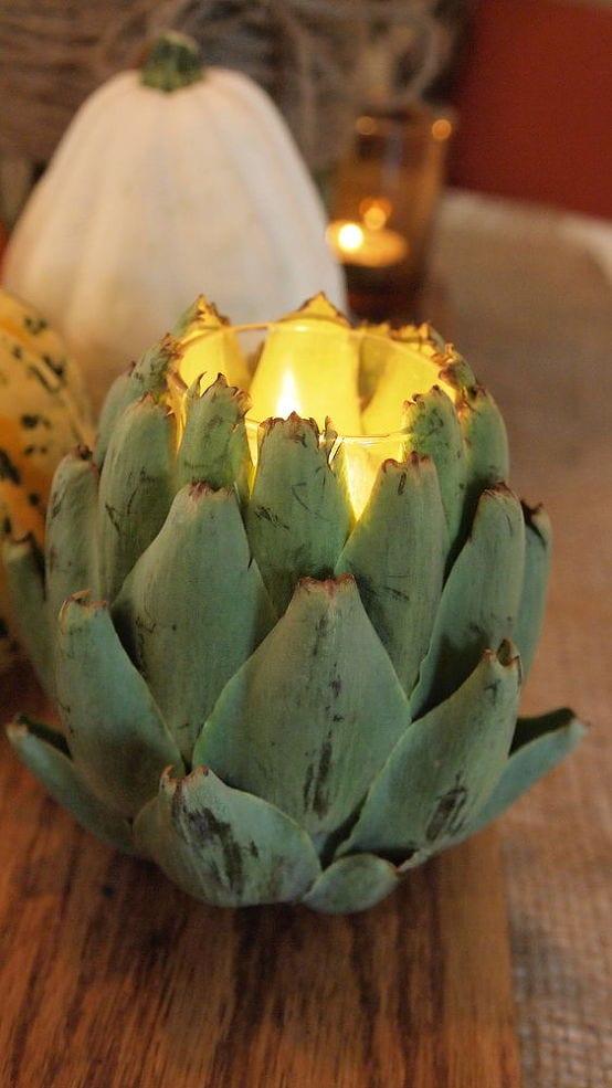 interessanter Ananas-Teelichthalter