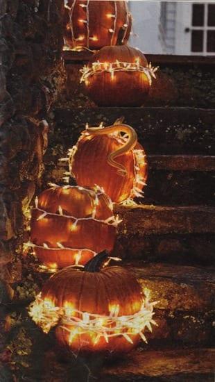 Halloween Dekoration für Aussentreppe mit Leuchten