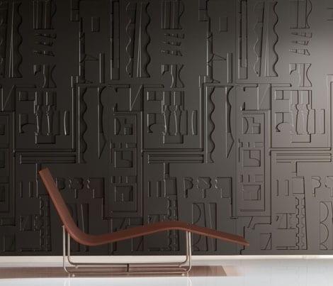 kreative schwarze 3D Wandverkleidung