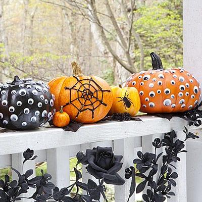 interessante Halloween Kürbis-Deko