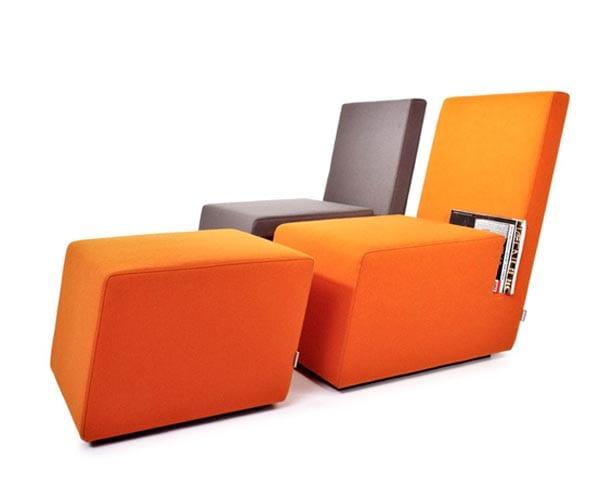 multifunktinelles Sessel in orange