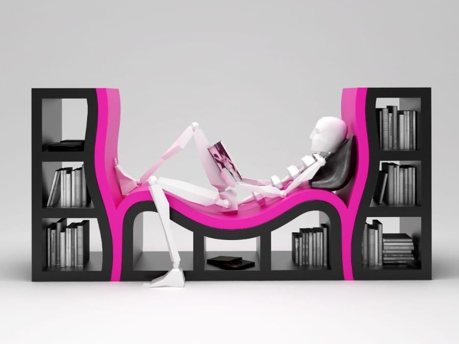 funktionelles Bücherregal zum Sitzen