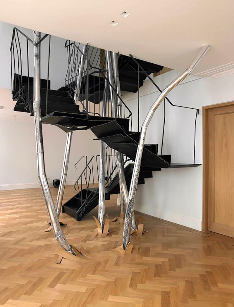 Treppe- skulptur-metall