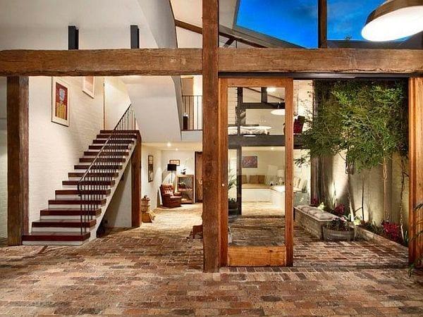 15 Ideen Für Rustikalen Ziegel- Und Holzboden - Freshouse Holz Aussen Innen Weiss Kombinieren