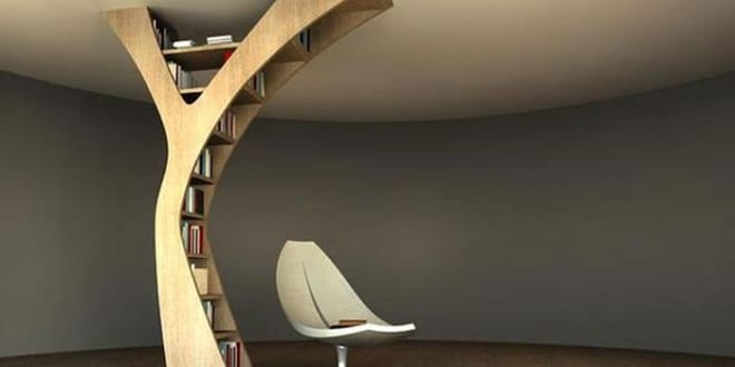 Funktionelle Bücherregale und multifunktionale Lesemöbel