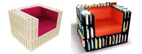 Lesemöbel- Bücherregal