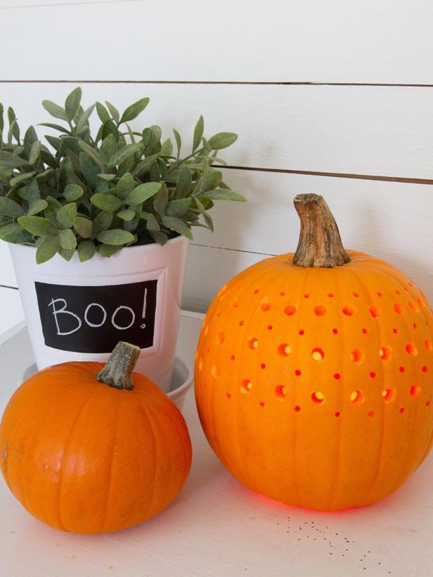 frische Halloween Idee mit Kürbis