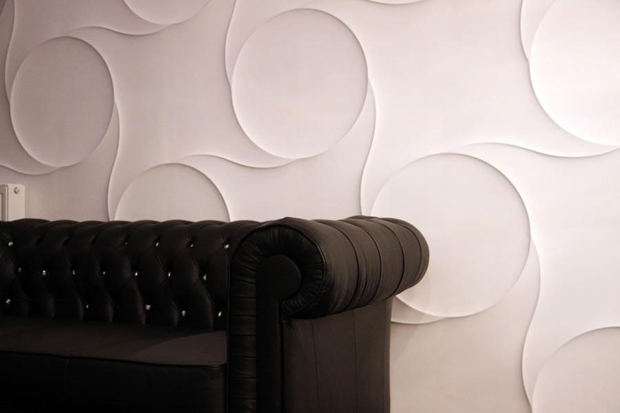 3D Wandpaneele mit verbundenen Kreisen