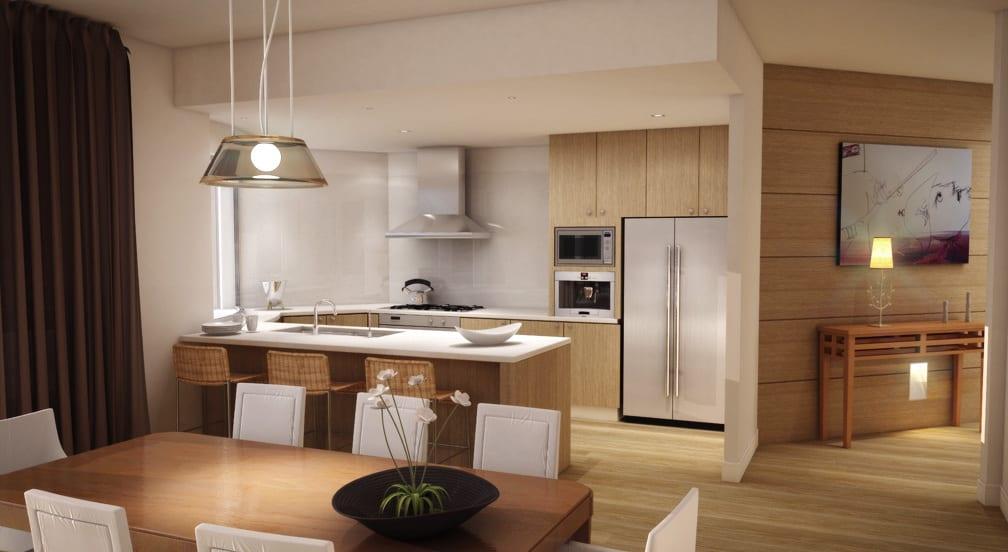 kleine-küche-in-naturfarben-im-wohnzimmer-aus-holz