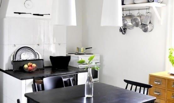 Luxus Küche In Schwarz Und Weiß Weiße Fliesen Pictures to pin on ...