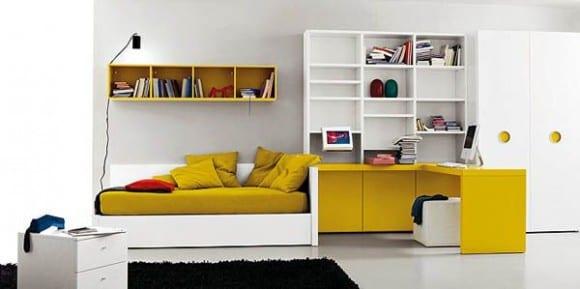 Minimalistische Einrichtung des Kinderzimmers