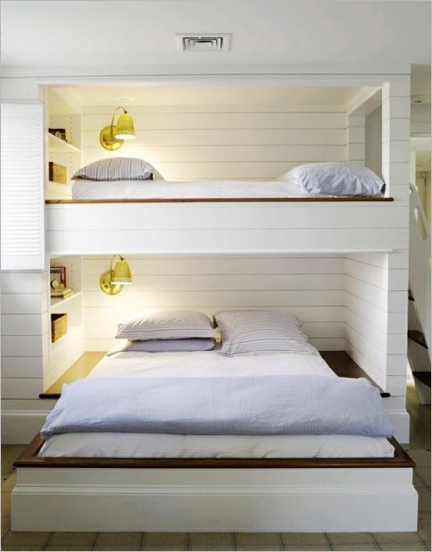 minimalistisches Dippelbett Design für Kinderzimmer mit Etagenbett