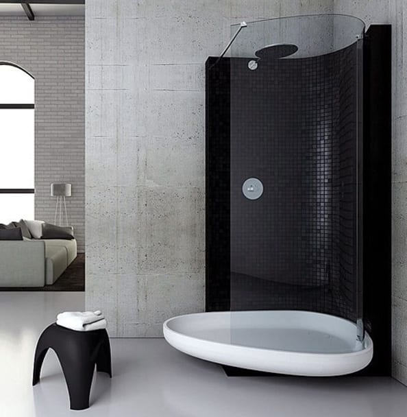 moderne und innovative dusche freshouse. Black Bedroom Furniture Sets. Home Design Ideas
