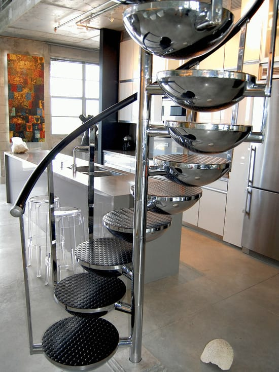 Treppenstufen aus Halbkugeln