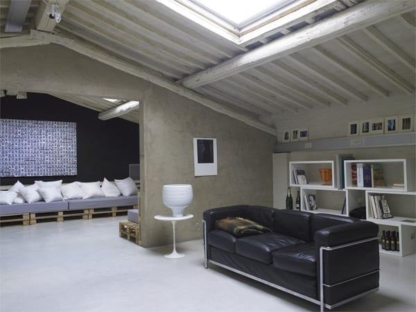 minimalistische Einrichtung italienisches Lofts