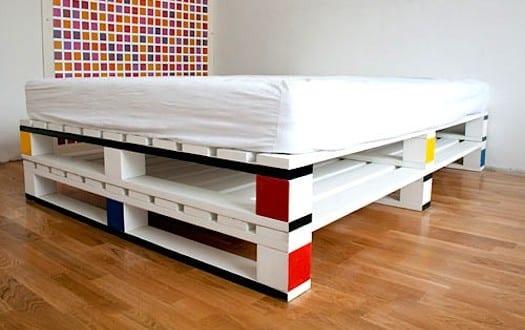modernes paletten bett freshouse. Black Bedroom Furniture Sets. Home Design Ideas