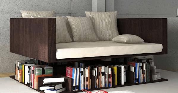 funktionelle Sofa mit Bücheregal