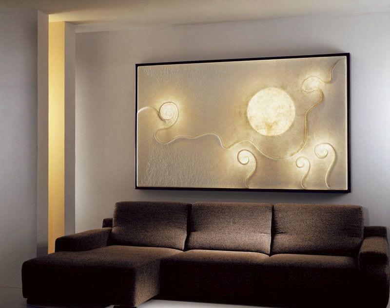 Wandgestaltung mit Leuchtbild