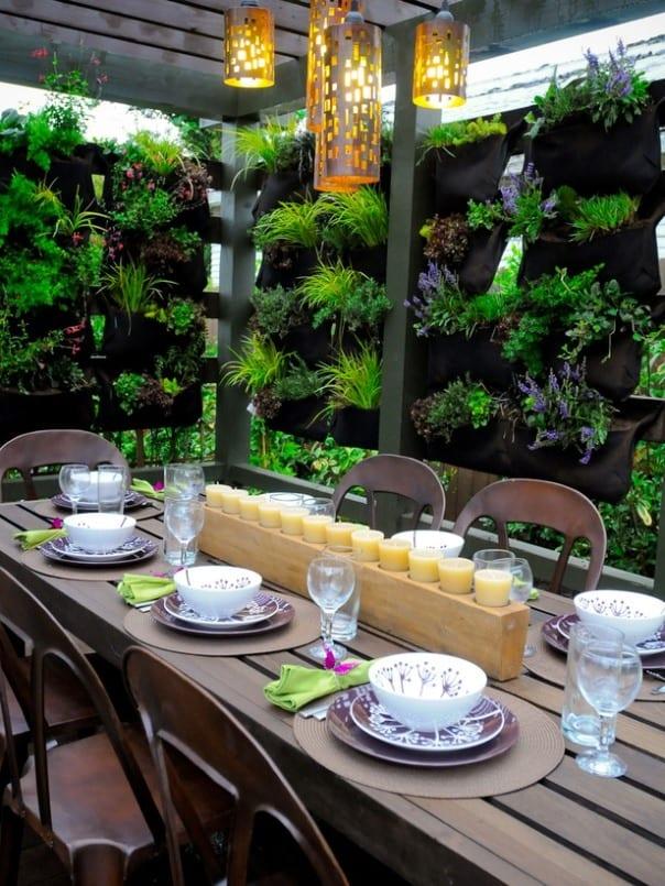 hängende Textil-Taschen für Pflanzen